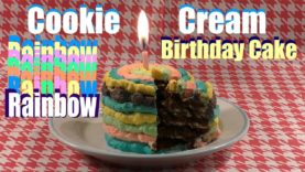 Phenomenal Cookie Biscuits And Cream Rainbow Birthday Cake Biscuit Cake Funny Birthday Cards Online Alyptdamsfinfo